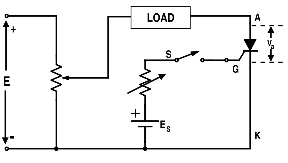 medium resolution of basic circuit for getting voltage and current characteristics of thyristor