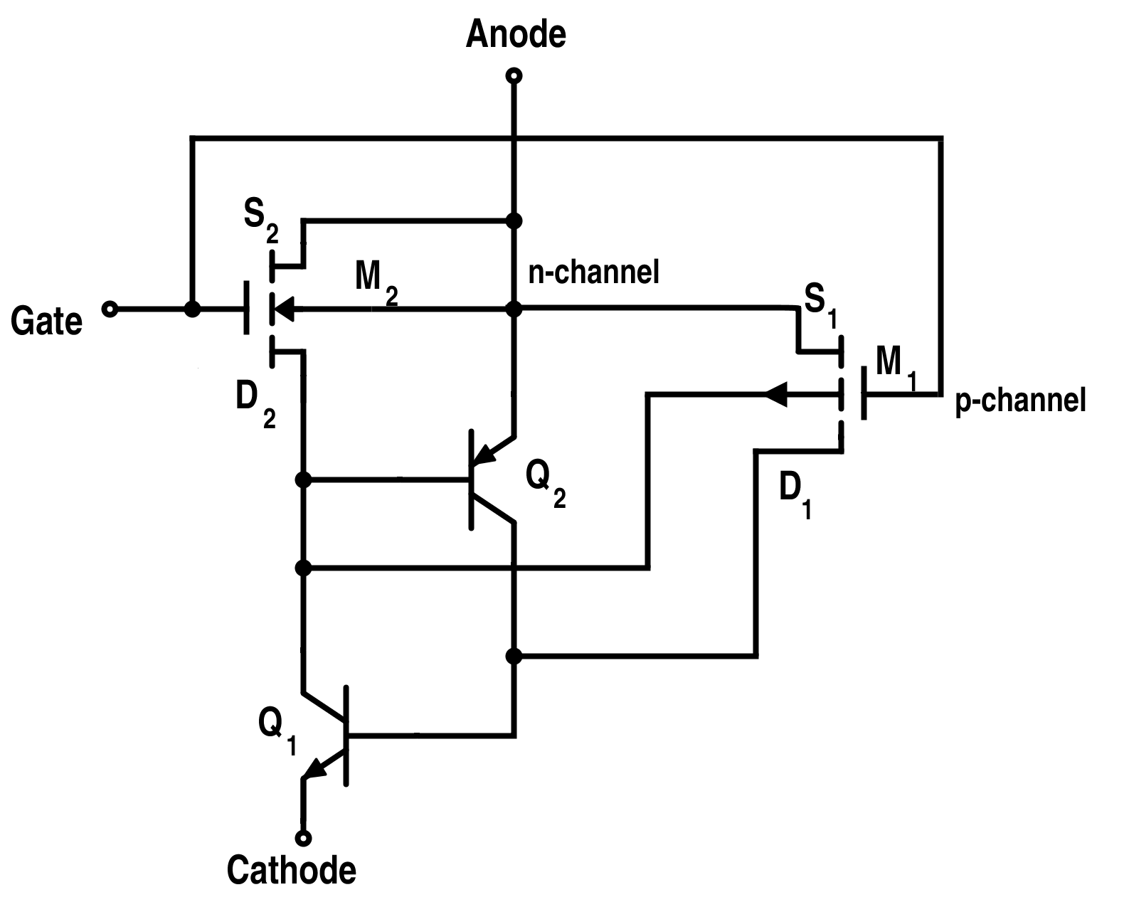 hight resolution of equivalent circuit for p type mct