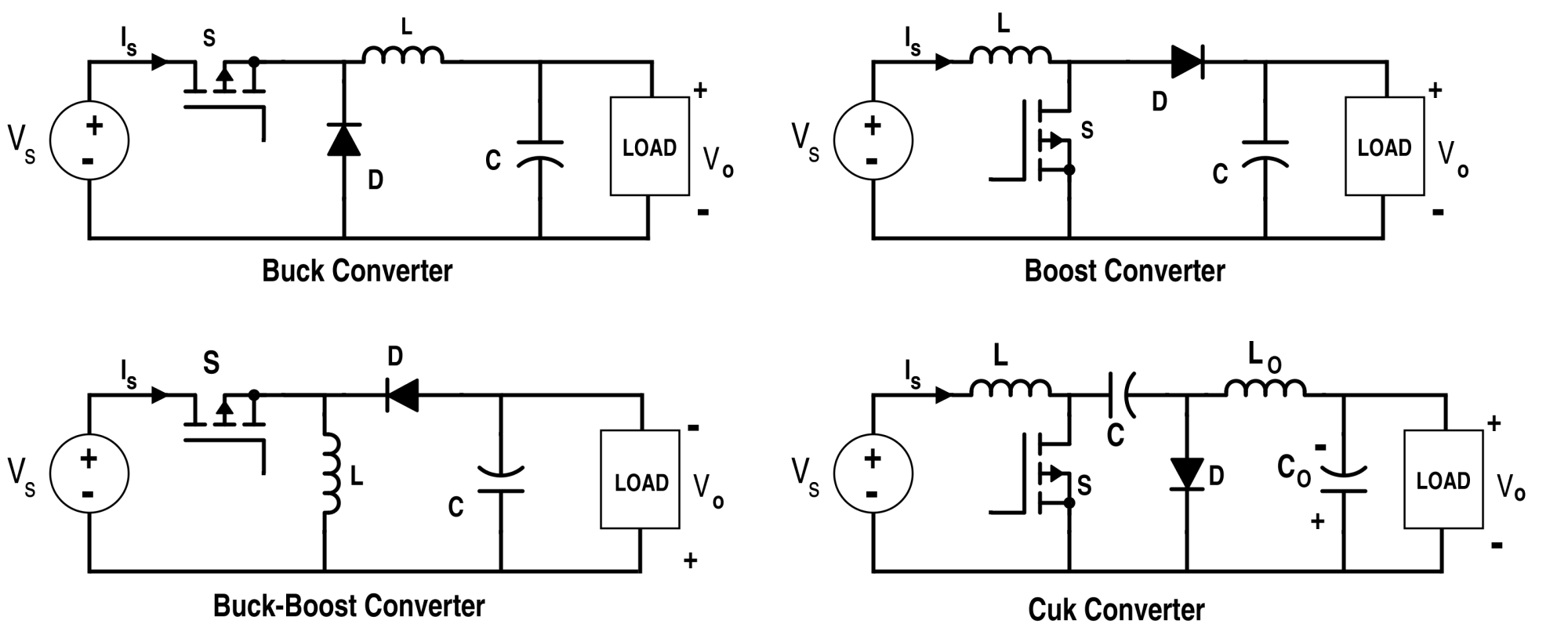 hight resolution of analysis of four dc dc converters in equilibrium dc dc converter circuit diagram step up dc dc converter circuit diagram