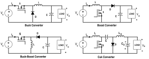 Analysis of Four DCDC Converters in Equilibrium