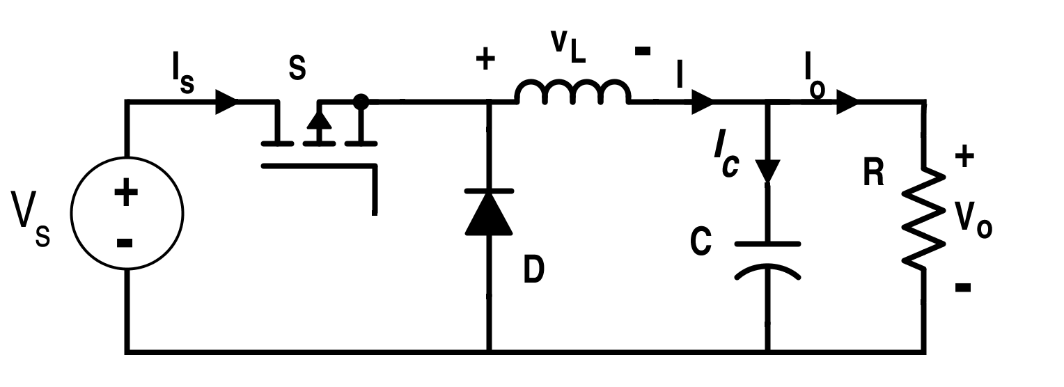 circuit diagram of buck boost converter two pole light switch 4rx lektionenderliebe de analysis four dc converters in equilibrium rh allaboutcircuits com