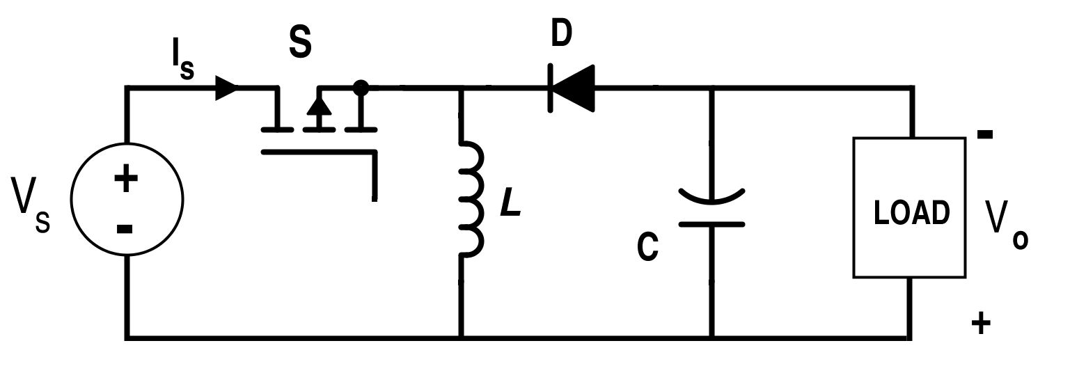 circuit diagram of buck boost converter 120 240 motor wiring analysis four dc converters in equilibrium