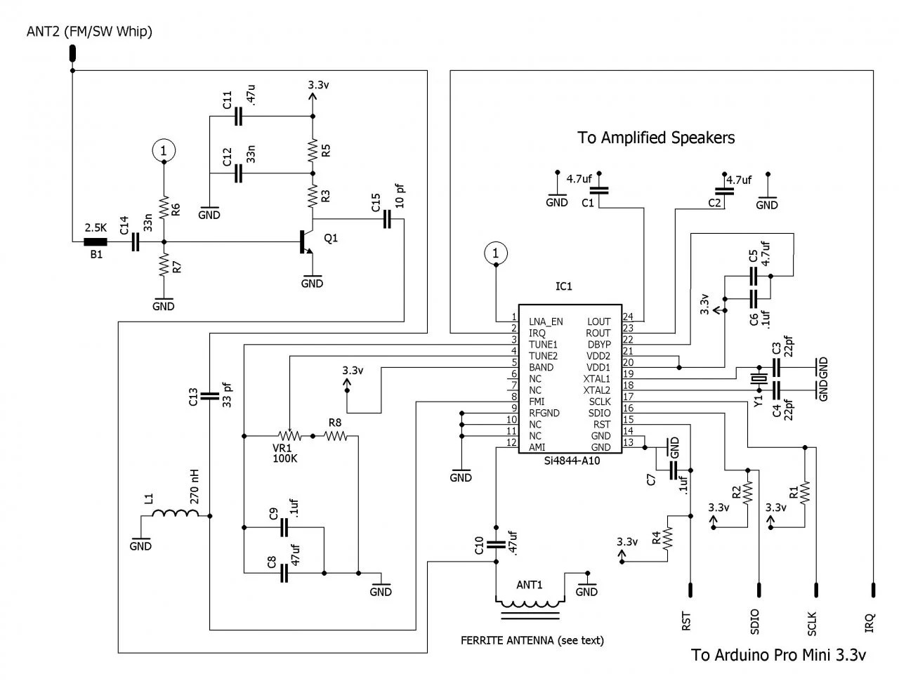mass airflow receiver circuit 2007 ford f350 fuse box diagram how to build an arduino controlled am fm sw radio