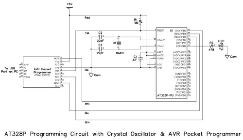 small resolution of the resulting schematic diagram is reproduced immediately below and a photo of the breadboarded circuit is just below the schematic