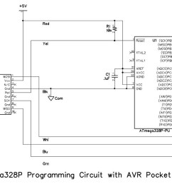 the schematic diagrams for the programming circuits are shown below note that resistor r2 and led1 are not strictly required for programming but are  [ 1200 x 698 Pixel ]