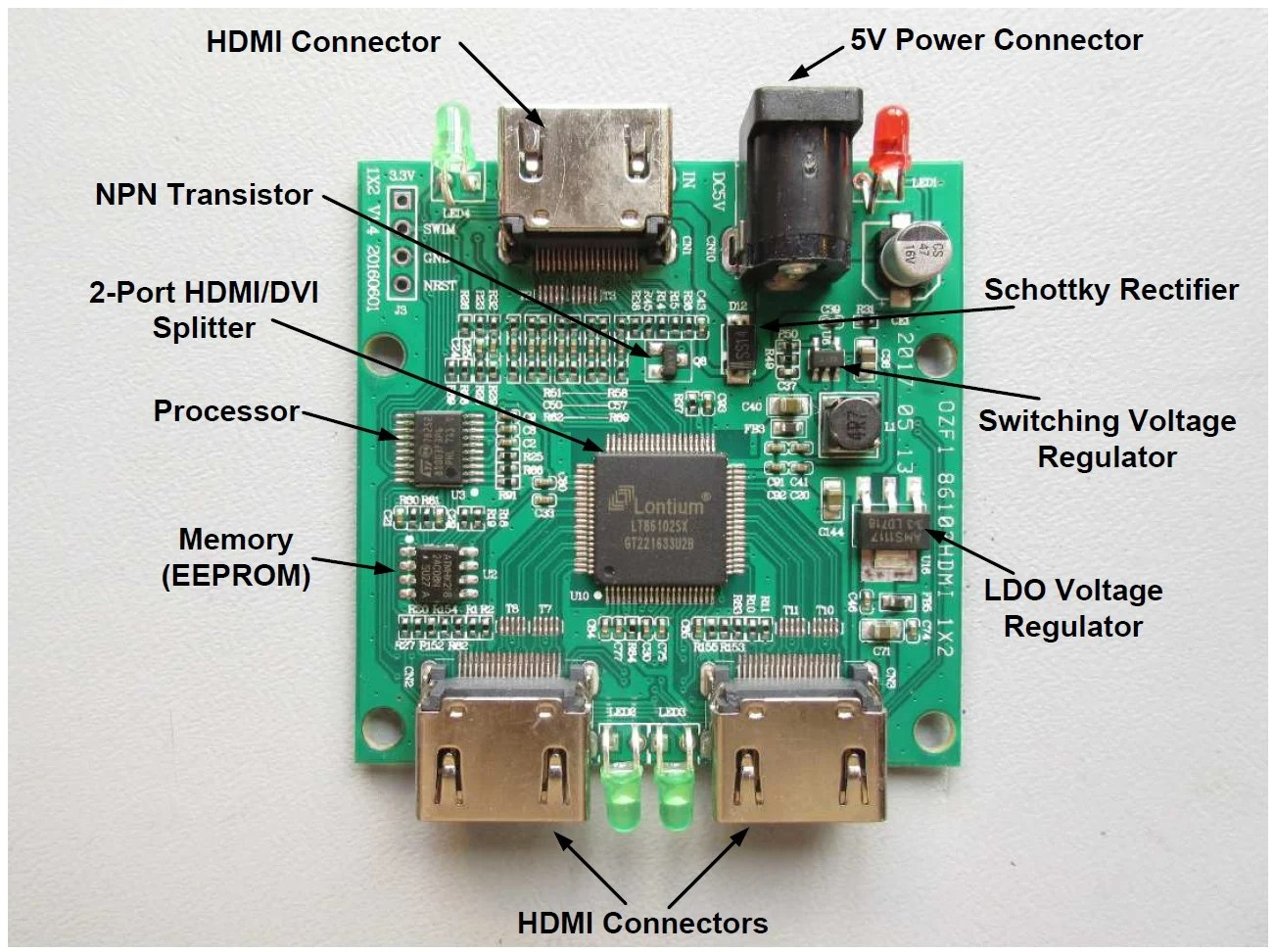 hight resolution of wrg 3749 hdmi splitter wiring diagram a single sided design meaning that components are