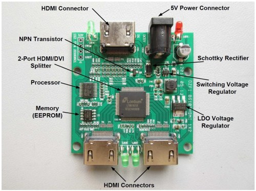 small resolution of wrg 3749 hdmi splitter wiring diagram a single sided design meaning that components are