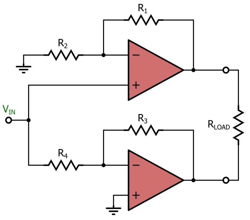 bridging 4 channel amp diagram drayton zone valve wiring amplifier great installation of bridge amplifiers for single supply applications rh allaboutcircuits com 2 kenwood
