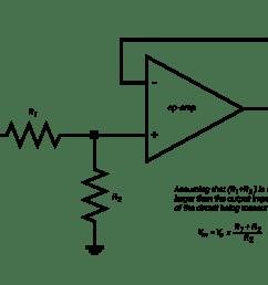 voltage divider in a voltage follower [ 2000 x 1414 Pixel ]