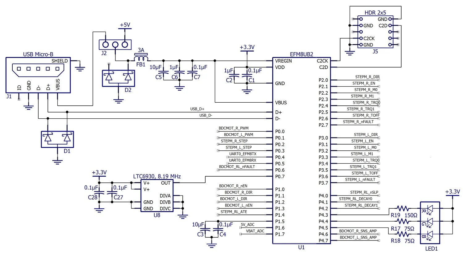 hight resolution of you may have noticed in the block diagram that the efm8 appears to be powered by 5 v from the dc dc converter actually though the efm8 has an integrated