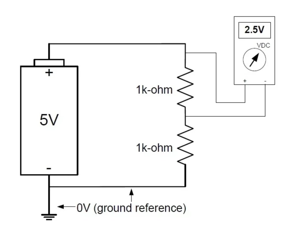 medium resolution of for instance if you were to measure the voltage across the upper resistor in a resistive voltage divider your reference point would not be ground