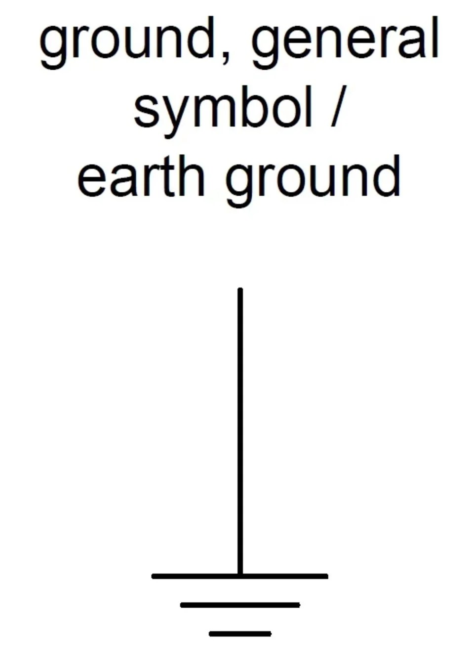 symbol for ground on wiring diagram