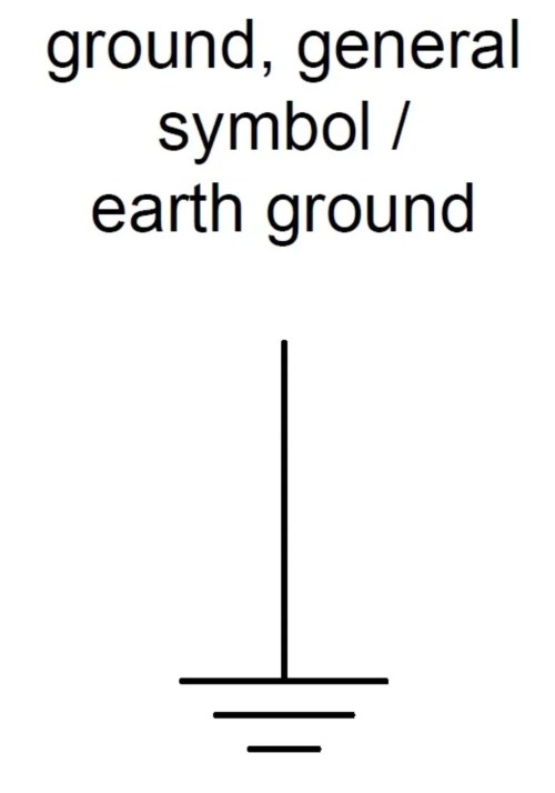 small resolution of general ground symbol or earth ground ieee std 315 1975 section 3 9 1 and iec 60417 5017