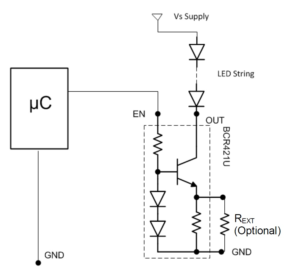 A Simple Method of Driving Low-Current LED Strips: Current