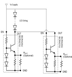 a parallel configuration allows for higher led currents circuit taken from the datasheet pdf  [ 1308 x 1236 Pixel ]