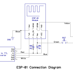 Convert Circuit Diagram To Breadboard Universal Ignition Switch Wiring Build A Picaxe Esp 01 Wi Fi Communicator