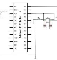 the solderless breadboard wiring diagram to buid the rpi led flasher notice the placement of the electronic components on the solderless breadboard  [ 1027 x 866 Pixel ]