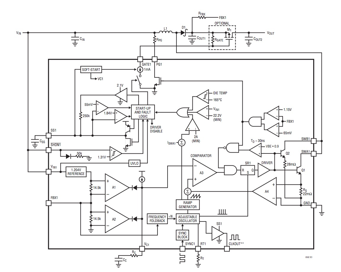 hight resolution of block diagram of the lt8582 from the datasheet pdf