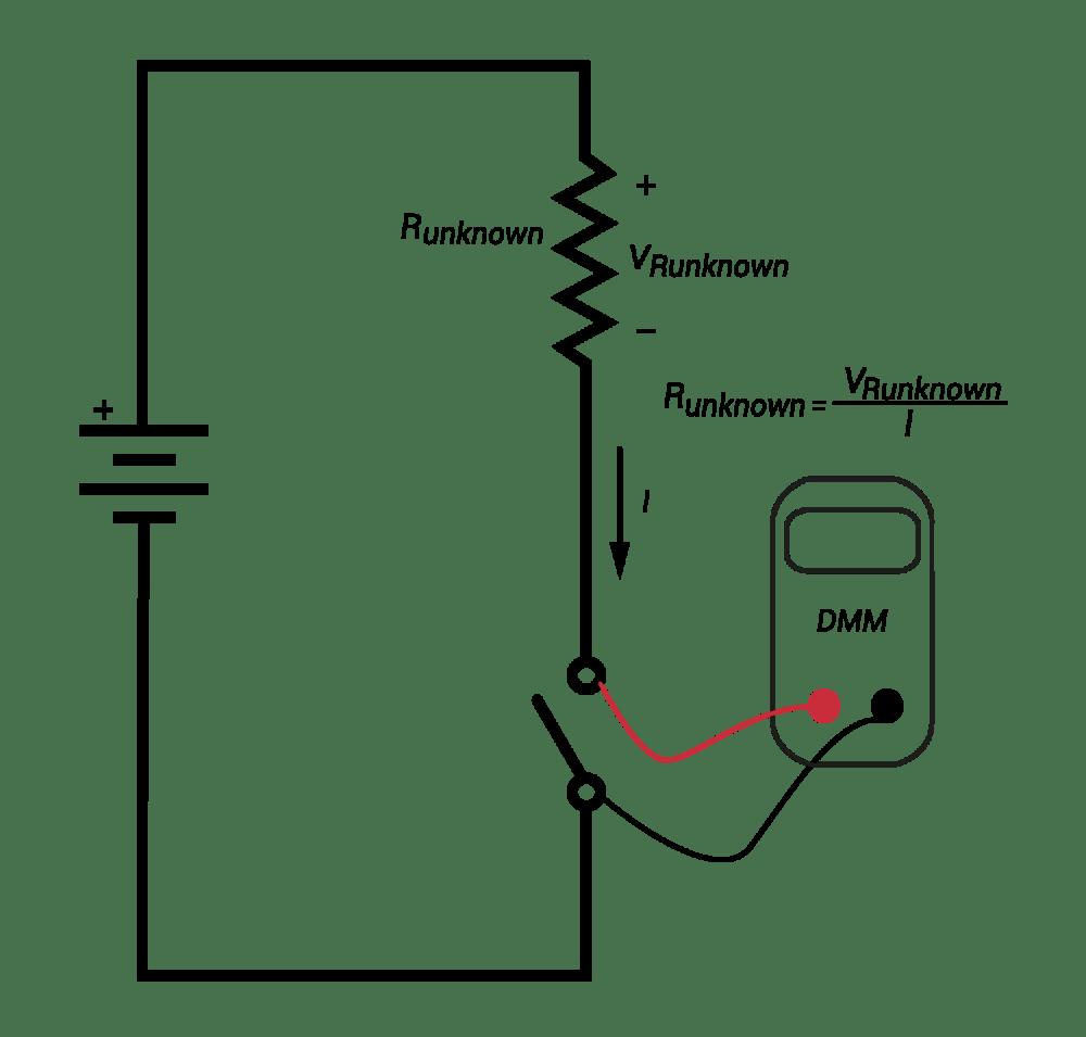 medium resolution of measuring resistance using a dmm