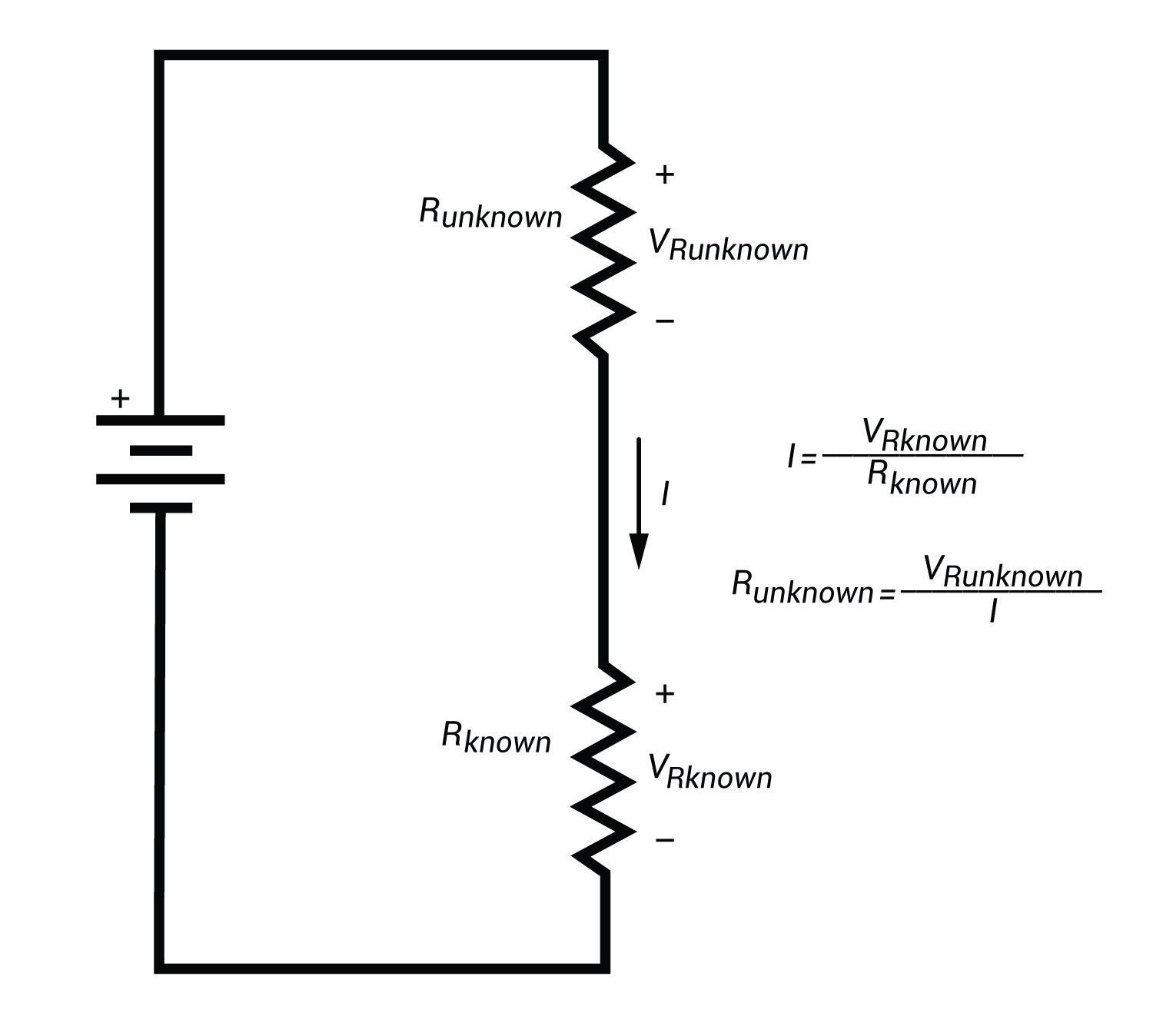 resistor circuit diagram pupil size measuring resistance in and out calculating unknown using ohm s law