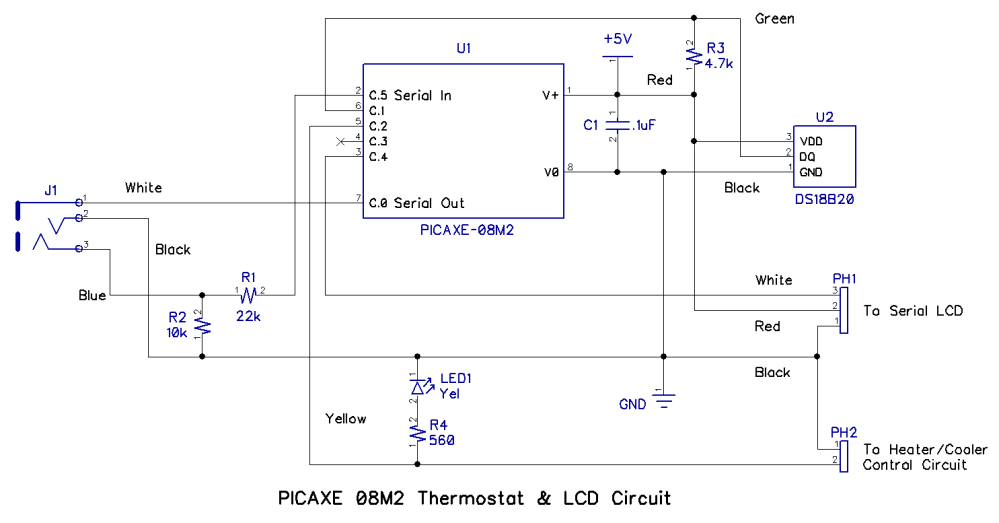 medium resolution of the photo below shows the solderless breadboard assembly of the circuit and is electrically identical to the schematic diagram above