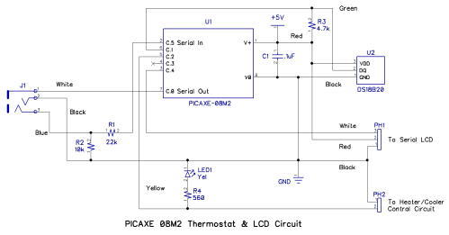 small resolution of the photo below shows the solderless breadboard assembly of the circuit and is electrically identical to the schematic diagram above