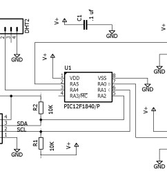 schematic for the pic i2c board  [ 1200 x 900 Pixel ]