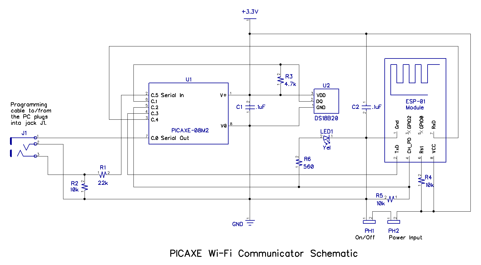 how to make a schematic diagram inside computer build picaxe esp 01 wi fi communicator