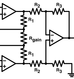 practical uses of instrumentation amplifiers power high input impedance three op amp circuit diagram amplifier [ 1128 x 787 Pixel ]