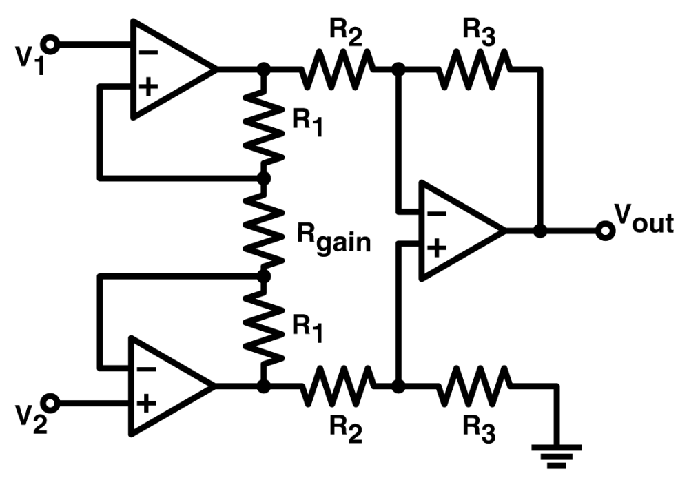 medium resolution of practical uses of instrumentation amplifiers power high input impedance three op amp circuit diagram amplifier