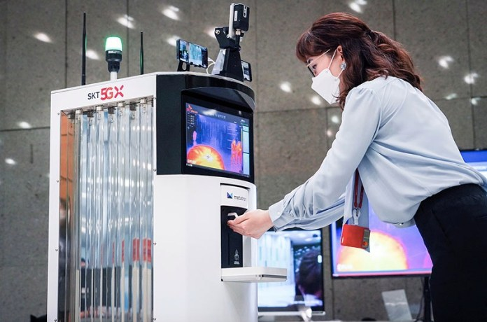 SK Telecom's 5G-powered autonomous robot.