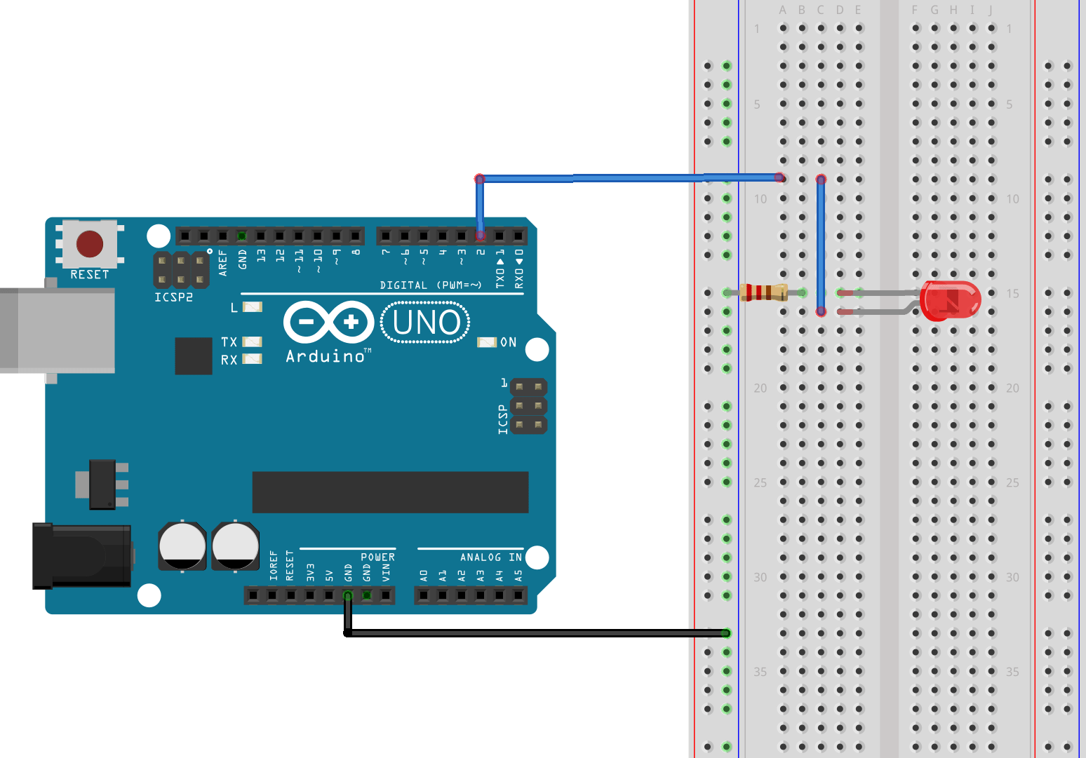 hight resolution of to change the brightness of the led the program will vary the duty cycle of the pwm signal output of pin 2