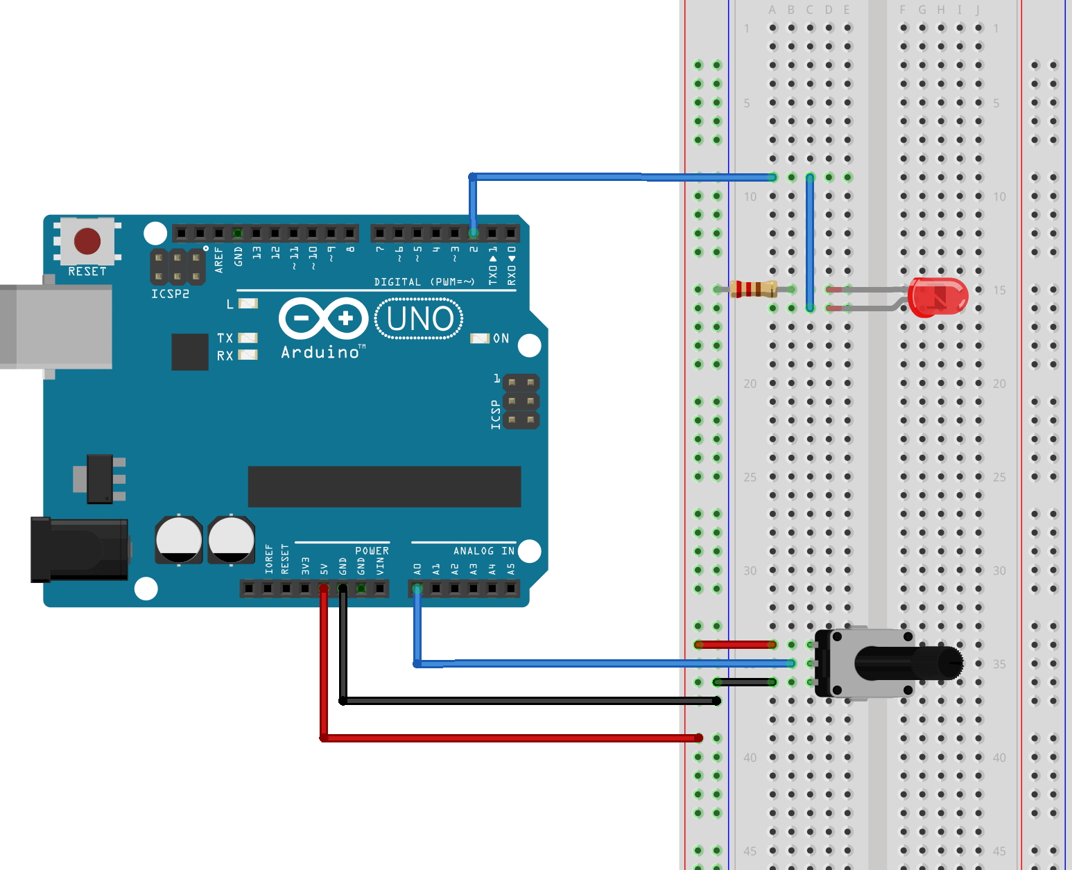 arduino wiring diagram painless dual battery instructions using analog i o in allpcb