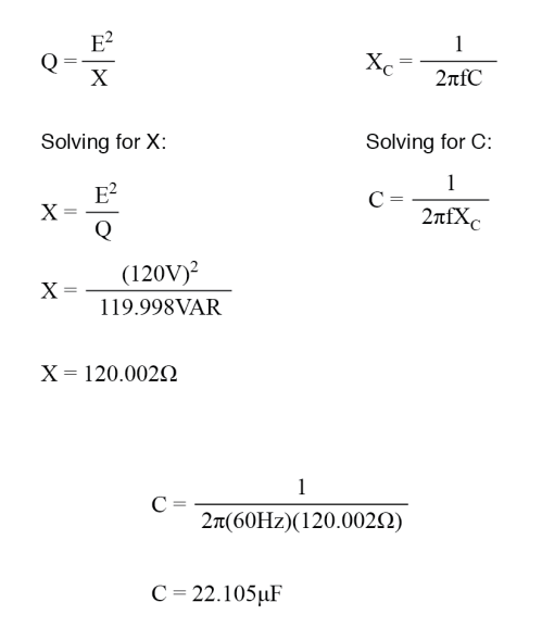 small resolution of calculate correct capacitor size
