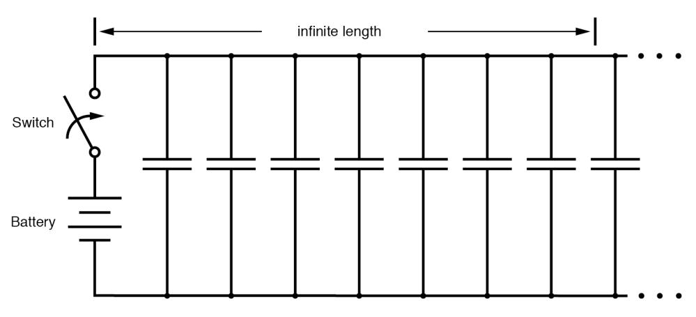 medium resolution of equivalent circuit showing stray capacitance between conductors