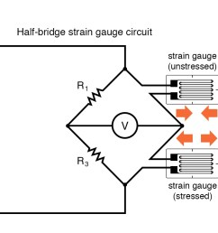 half bridge strain gauge circuit [ 1227 x 871 Pixel ]