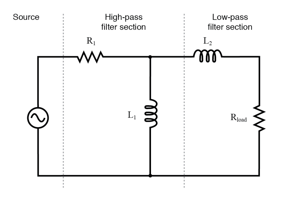 medium resolution of inductive band pass filter