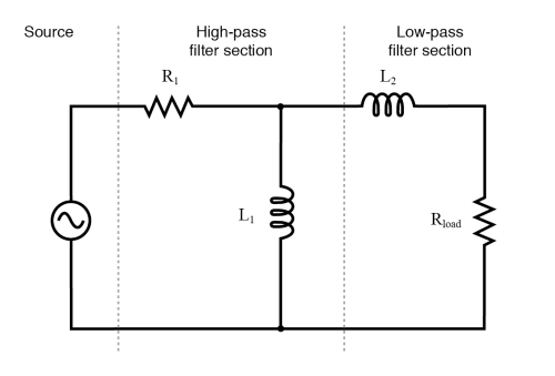 small resolution of inductive band pass filter