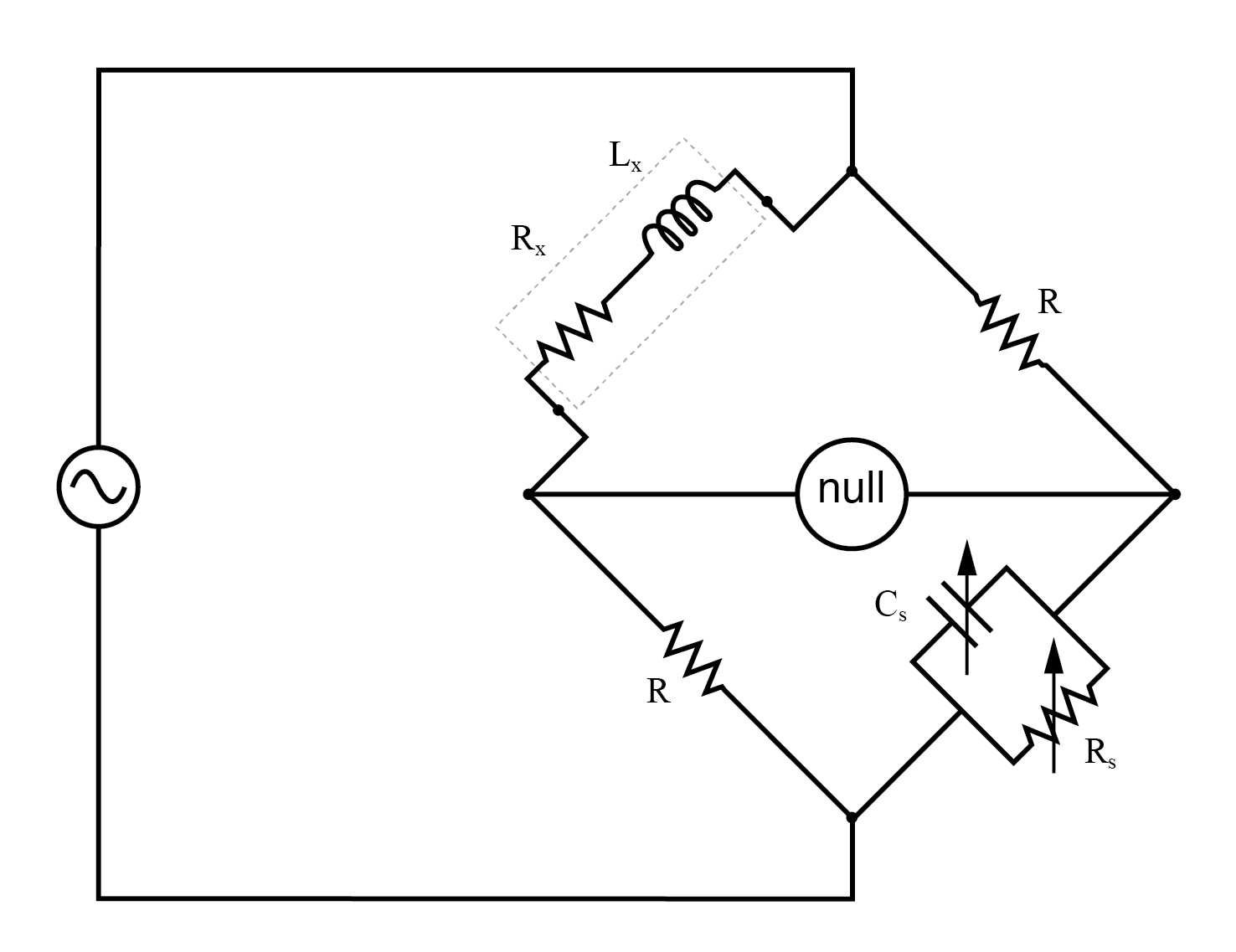 hight resolution of maxwell wein bridge measures an inductor in terms of a capacitor standard