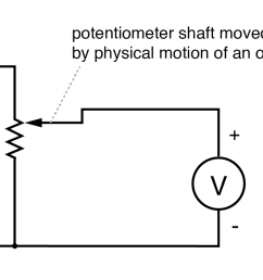 potentiometer tap voltage indicates position of an object slaved to the shaft  [ 1617 x 706 Pixel ]