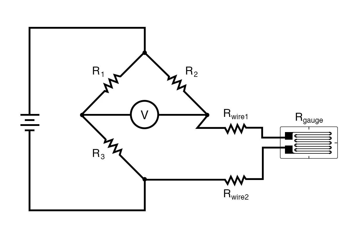 hight resolution of quarter bridge circuit