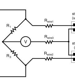 quarter bridge strain gauge circuit with temperature compensation diagram 2 [ 1244 x 748 Pixel ]
