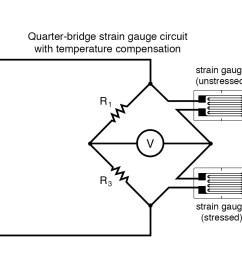 quarter bridge strain gauge circuit with temperature compensation [ 1181 x 917 Pixel ]