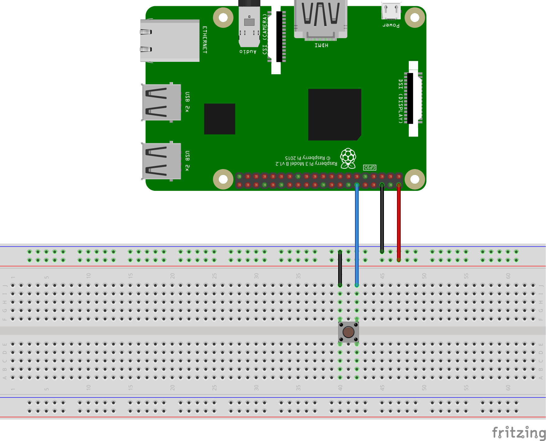 medium resolution of wiring the tactile pushbutton switch to the rpi