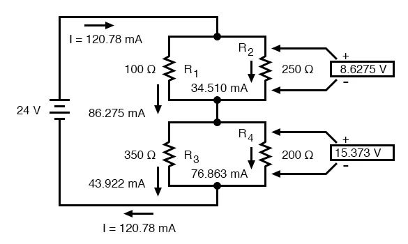 schematic three resistors in series