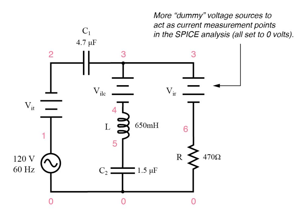 medium resolution of series parallel rlc spice circuit