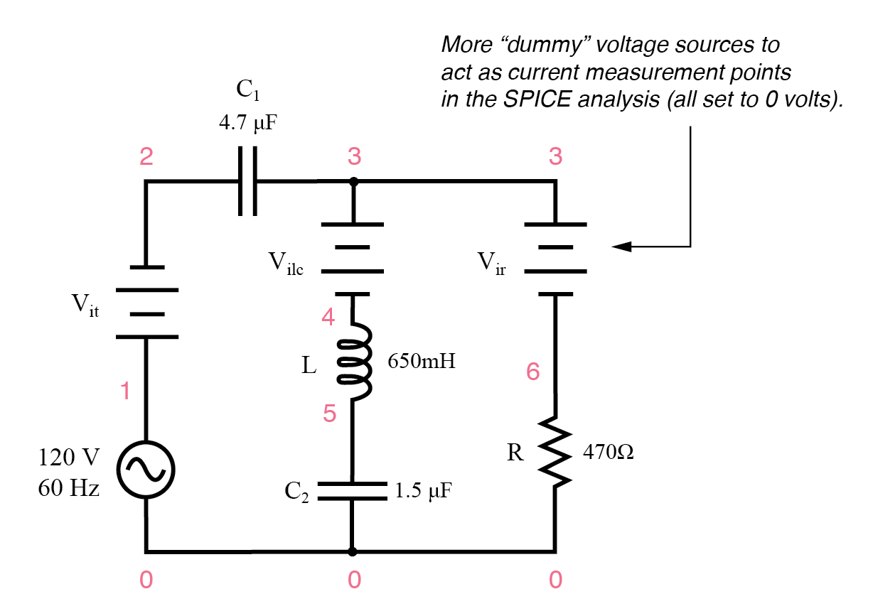 hight resolution of series parallel rlc spice circuit
