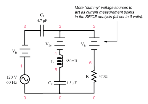 small resolution of series parallel rlc spice circuit