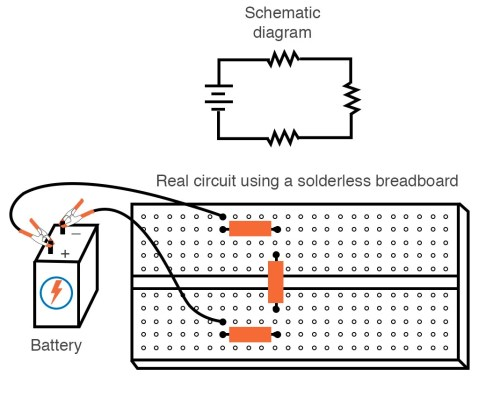 small resolution of solderless breadboard simple series circuit in solderless breadboard