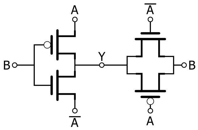 Pass Transistor Logic Gate